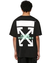 T-shirt Oversize En Coton Imprimé Cascade Off-White c/o Virgil Abloh pour homme en coloris Black