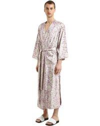メンズ Versace Bavelet ロングサテンローブ Multicolor