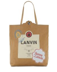 Lanvin Natural Bedruckte Tasche Aus Bastelpapier