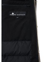 メンズ Moose Knuckles Saint-ulric コットン&ナイロン ダウンパーカ Black