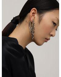 Paco Rabanne Metallic Mesh Mono Earring W/ Striped Rhinestones