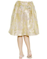Rochas - White Floral Embroidered Silk Nigel Skirt - Lyst