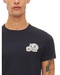 メンズ Moncler コットンジャージーtシャツ Blue
