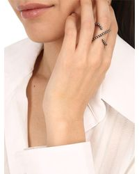 FEDERICA TOSI - Black Cross Ring - Lyst