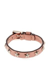 RED Valentino Multicolor Leather Bracelet W/ Star Studs