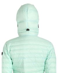Ai Riders On The Storm | Green Zip-up Nylon Micro Ripstop Down Jacket | Lyst