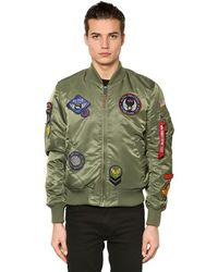 Alpha Industries | Green Ma-1 Vf Slim Bomber Jacket W/ Patches for Men | Lyst