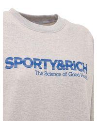 Sporty & Rich コットンスウェットシャツ Gray