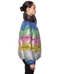 Marco De Vincenzo - Multicolor Glitter Rainbow Puffer Jacket - Lyst