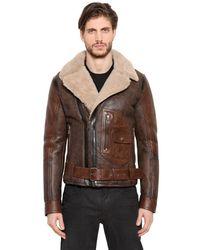 Belstaff   Brown Danescroft Shearling Aviator Jacket for Men   Lyst