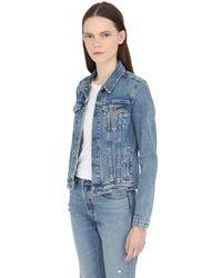 Levi's Blue Washed Cotton Denim Jacket