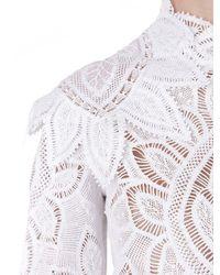 Martha Medeiros - White Floral Cotton-Lace Dress - Lyst