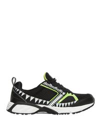 Volta Footwear Black Terra Decor Mesh Sneakers