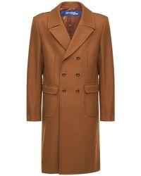 Junya Watanabe Multicolor Wool Coat W/ Back Check for men
