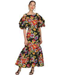 Платье Из Хлопка С Принтом Carolina Herrera, цвет: Black