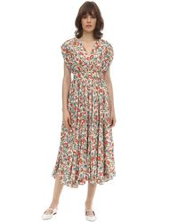 Emilia Wickstead Floral シルク&ウールドレス Multicolor