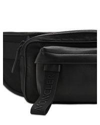 Moncler Black Canvas Belt Pack for men