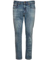 メンズ Versace Jeans コットンデニムジーンズ 16cm Blue