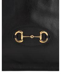 Gucci Md1955 Horsebit レザーショルダーバッグ Black