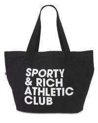 Sporty & Rich Exercise Often トートバッグ Black
