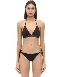 Calvin Klein Black Bikini-Oberteil mit Neckholder