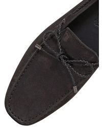 Tod's Black Gommino 122 My Color Nubuck Driving Shoe for men