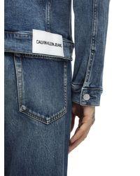 Calvin Klein Jacke Aus Baumwollmischdenim in Blue für Herren