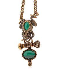 Alcozer & J - Metallic Desire Frog & Crown Bracelet - Lyst