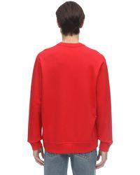 メンズ Burberry Tbロゴプリントコットンジャージースウェットシャツ Red