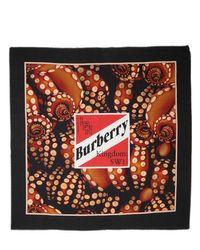 メンズ Burberry コットン&シルクスカーフ Red