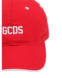 Gcds Red Cotton Hat for men