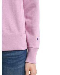 Champion Pink Logo Detail French Terry Sweatshirt