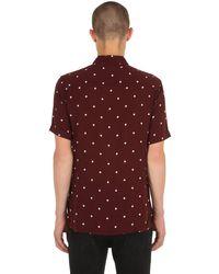 メンズ AllSaints Kuta 水玉半袖シャツ Red