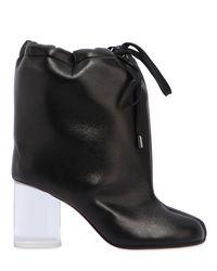 Maison Margiela Black 80mm Tabi Oversize Coated Neoprene Boots