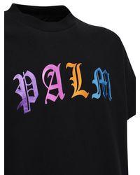 メンズ Palm Angels コットンジャージーtシャツ Black