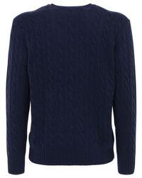 メンズ Polo Ralph Lauren ウール&カシミアニットセーター Blue