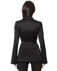 J.W. Anderson - Black Stretch Wool Flannel Jacket - Lyst