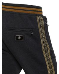 Dolce & Gabbana Gray Military Style Sweatpants for men