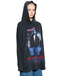 MM6 by Maison Martin Margiela Black Mystery Man Cotton Jersey Dress