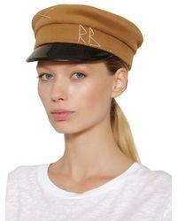 Ruslan Baginskiy Baker Boy ウール帽 Brown