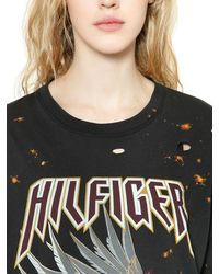 Tommy Hilfiger Black Eagle Bleached & Ripped T-shirt