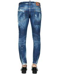 DSquared² Blue 16cm Sexy Twist Destroyed Denim Jeans for men