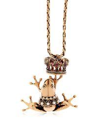 Alcozer & J - Metallic Frog Prince Necklace - Lyst