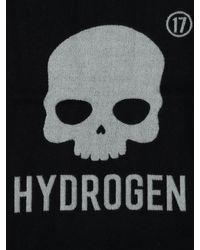 Hydrogen Black Icon Logo Wool Scarf for men
