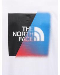 メンズ The North Face コットンスウェットフーディ White