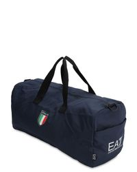 "Bolso De Gimnasio ""Team Italia Official"" EA7 de hombre de color Blue"