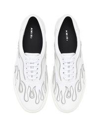"""Sneakers """"flame"""" De Lona Con Cordones Amiri de hombre de color White"""