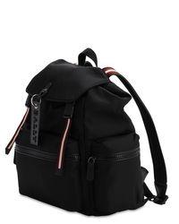 Bally Black Nylon Backpack W/ Stripes Details for men