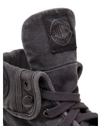 Palladium Gray Pallabrouse Baggy Washed Canvas Boots for men