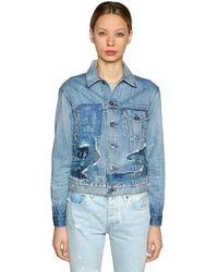 Levi's Blue Patchwork Denim Trucker Jacket